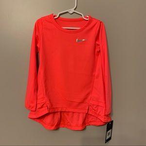 New Nike Peplum Long Sleeve Shirt/ Top Size 4T